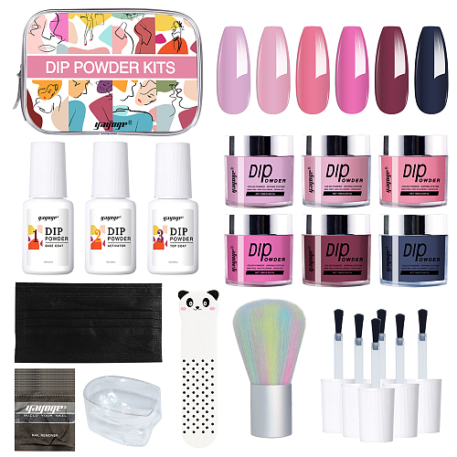 Dear Lady 6 Colors Dip Powder Nail Starter Kit