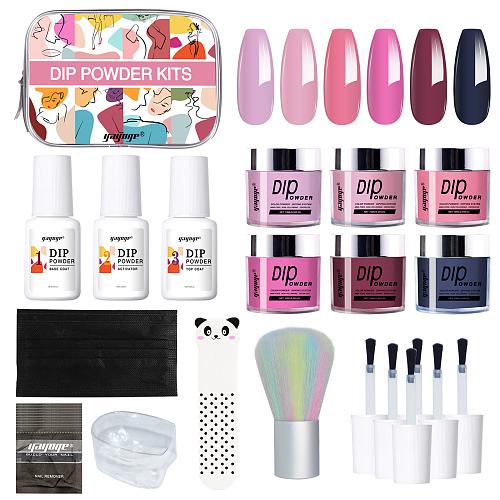 Dear Lady 6 Colors Dip Powder Nail Starter Kit
