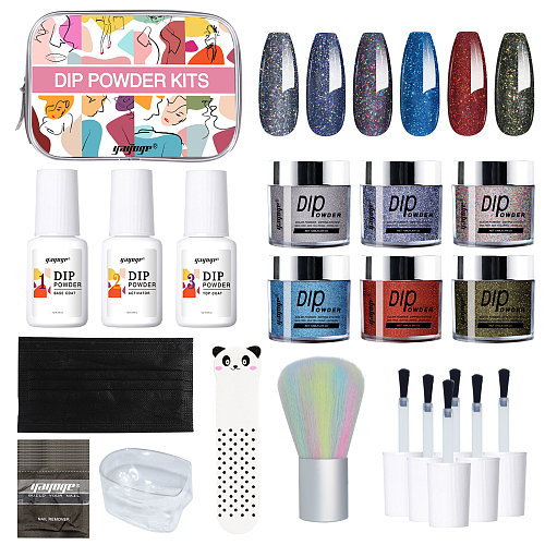 Cosmic Flowers 6 Colors Dip Powder Nail Kit Starter
