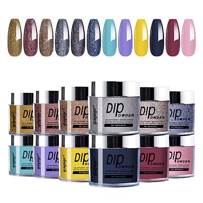 Alluring 12 Colors Glitter Dipping Powder Nail Starter Kit