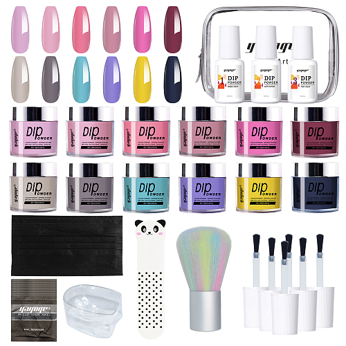 Verre de Cathédral 12 Summer Colors Nail Dip Powder Kit