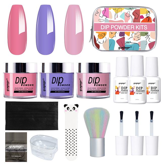 Precious Girl 3 Colors Nail Dipping Powder Kit