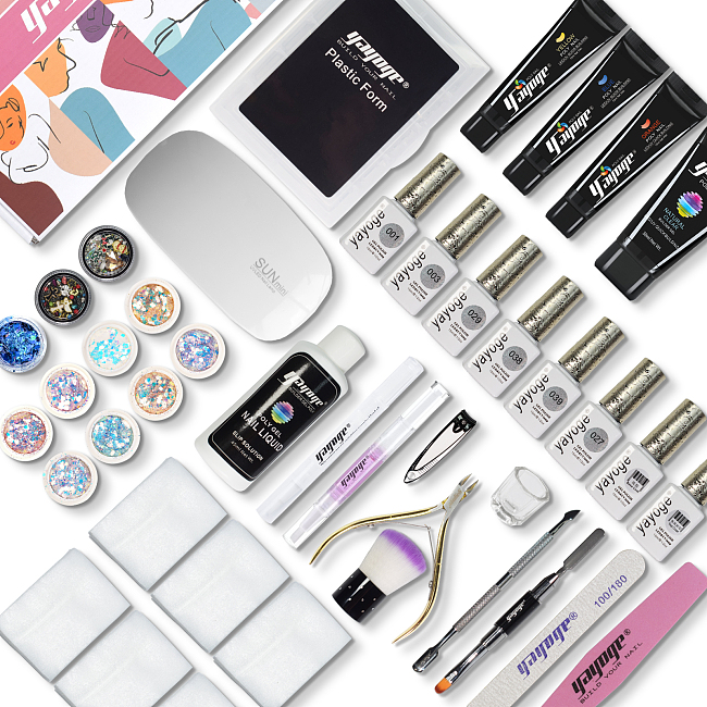 Professional Nail Gel Polish With Poly Gel Kit