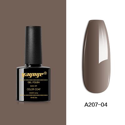 Coffee Color Series UV LED Nail Gel Polish Soak Off Varnish Gel A207(10ml)