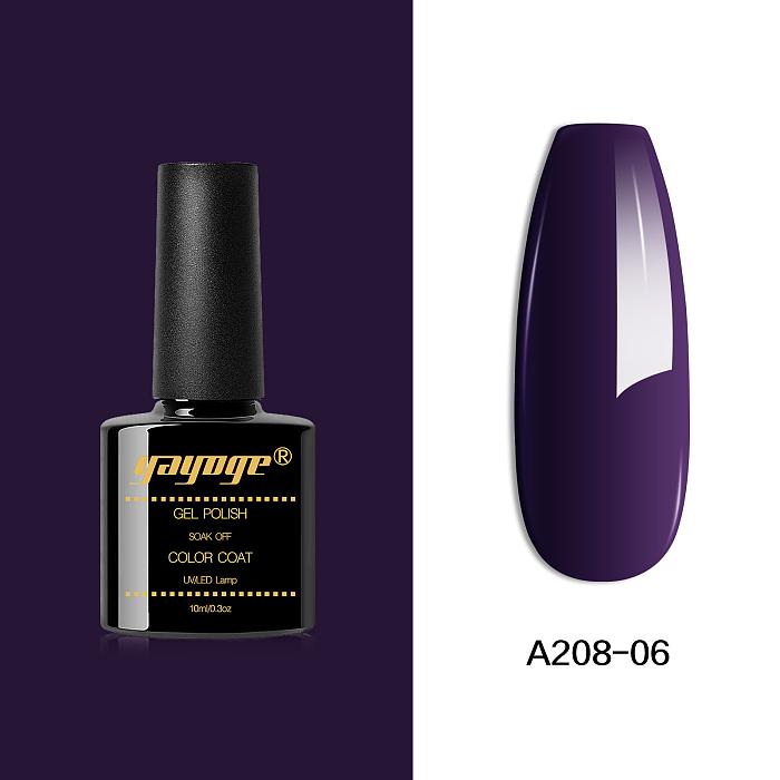 6 Colors Lavender Series UV LED Gel Nail Polish A208(10ml)