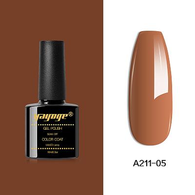 6 Colors Peruvian Brown Series Gel Nail Polish UV LED Soak Off(10ml)