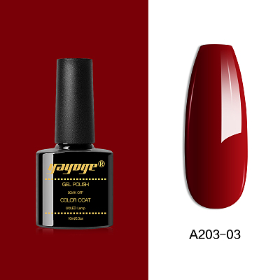 6 Colors Rose Red Series UV LED Gel Nail Polish Soak Off(10ml)