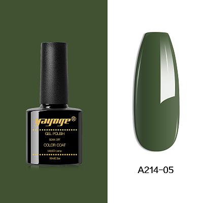 6 Colors Olive Green Series UV LED Gel Nail Polish Soak Off(10ml)