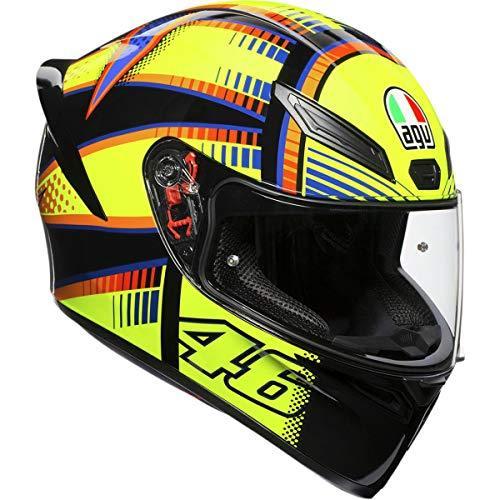 AGV Unisex-Adult Full Face K-1 Soleluna 2015 Motorcycle Helmet (Yellow/Black, Medium/Large)