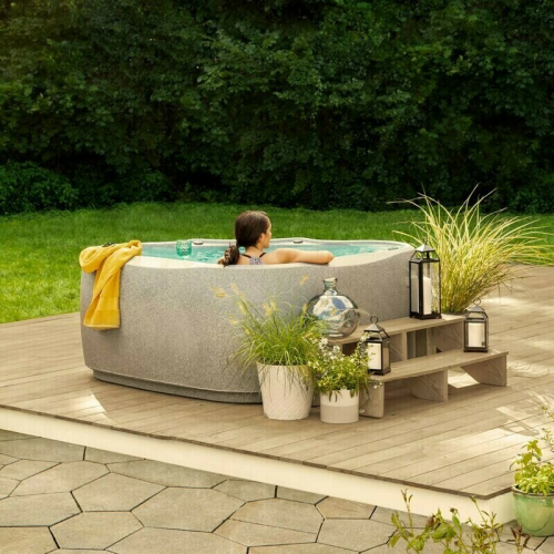 Elite 600 6-Person 29-Jet Plug and Play Hot Tub with Ozone and LED Waterfall