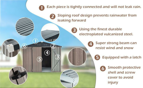 8x10 Outdoor Storage Shed Kit