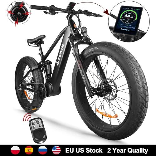 Electric Bicycle Bafang 1000W Beach eBike 4.0 Fat Tire Electric Bike 48V Mens Mountain Bike Snow E-bike 26inch Bicycle 9 Speeds