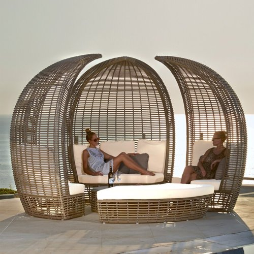 Outdoor Rattan Beach Table Sofa