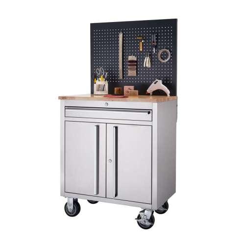 RINITY Basics  31 x 20.6   Stainless Steel Workbench   w/ Pegboard