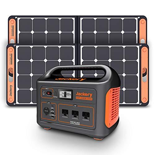 HIGHTECH Portable Power Station Explorer 1000, 1002Wh Solar Generator with 3x110V/1000W AC Outlets, Solar Mobile Lithium Battery Pack for Outdoor RV/Van Camping, Emergency