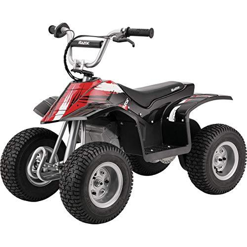 Razor Dirt Quad - 24V Electric 4-Wheeler ATV - Twist-Grip Variable-Speed Acceleration Control, Hand-Operated Disc Brake, 12 Knobby Air-Filled Tires