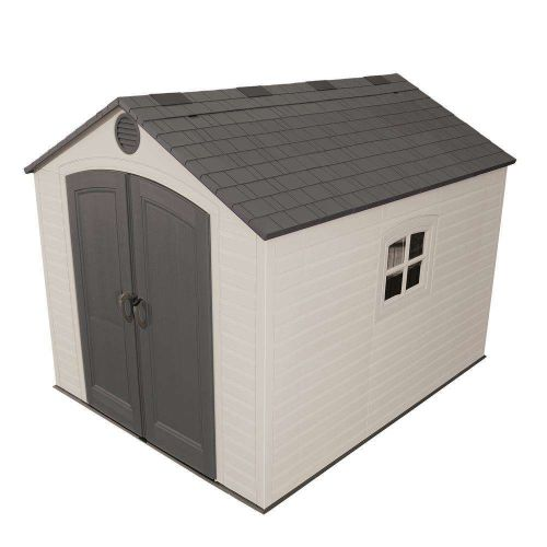 Installed 8 ft. x 10 ft. Outdoor Storage Plastic Shed