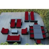 Conversation Patio Furniture Sets Clearance 20 Pc Sectional Furniture Set Outdoor Wicker Resin Modern Contemporary Lawn And Garden Set Dining Set Coffee Table Sofa Chaise Lounges & eBook By NAKSHOP