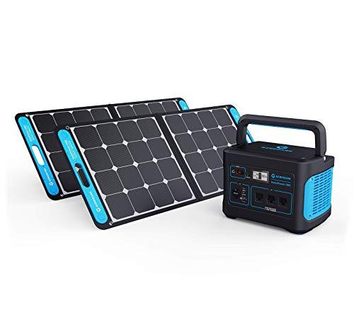 HIGHTECH Portable Power Station Backup Battery Solar Panel Power Generator for Homes. 1000W-2000W at 110V. Up to 7 Days of Emergency Power Supply. (1x2 (for 1-2 People Family))