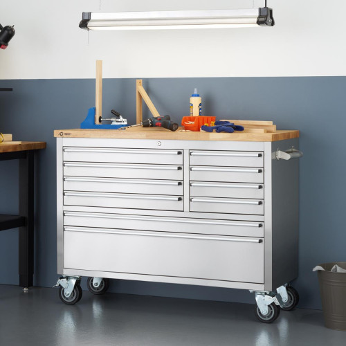 RINITY   48x19   Stainless Steel Rolling Workbench