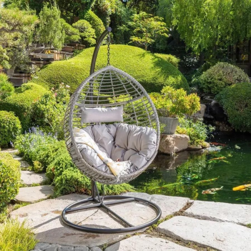 Hanging Basket Cushioned Chair by Christopher Knight Home - Brown