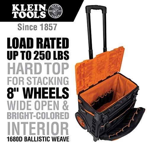 Klein Tools 55473RTB Rolling Tool Bag, Tradesman Pro Tool Master, 250lbs Load Rated