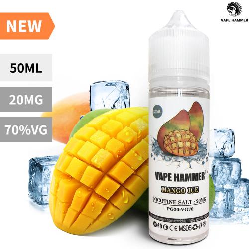 2 E-Liquid Pack Nicotine Salt Flavors Mango & Yakult Salt Nic 50ml