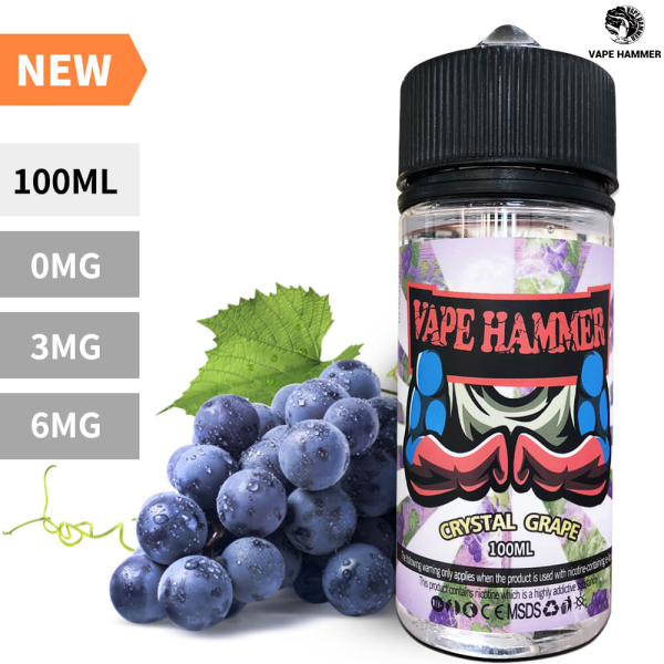 Top Smoke Liquid Crystal Grape Flavor Cheap Vape Juice