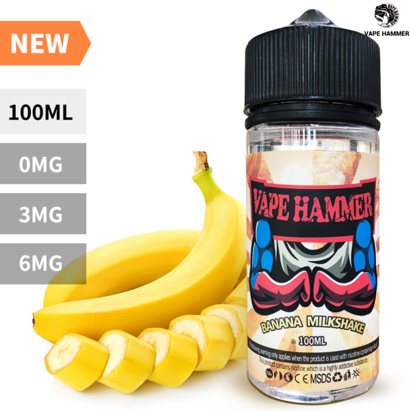 Smoke Juice 100ml Banana milkshake Vape Juice The Finest E Liquid