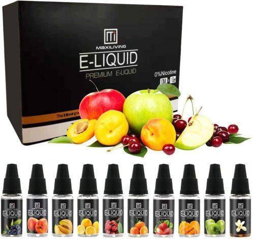E-Liquid Bundle Pack 10ml*10 Various Fruit Vape Juice