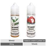 Top 50ml E-Juice Lychee Ice & Tobacco Cream Salt Nic Juice Combo