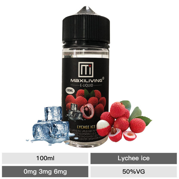 Vape Juice Maxiliving 100ml Lychee Fruit E Liquid-pg/vg: 50/50