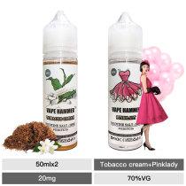 Premium E-Juice Two Salt Nic Flavors Nicotine Salts Pack 50ml