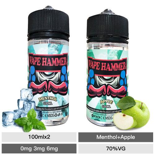 100ml E-Juice Apple & Menthol Vape Juice 2 Pick Combo Pack