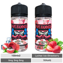 Hot Ejuice Combo Pack Lychee Ice And Strawberry Vaping 100ml X2