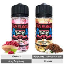 cheap e liquid combo pack raspberry and cream tobacco e liquid 100ml