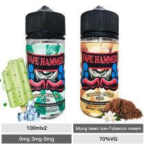vapor liquid pack mung bean and cream tobacco e liquid 100ml x2
