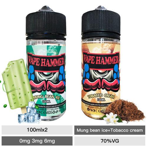 Best Vapor Liquid 100ml Pack Mung Bean And Cream Tobacco E Liquid