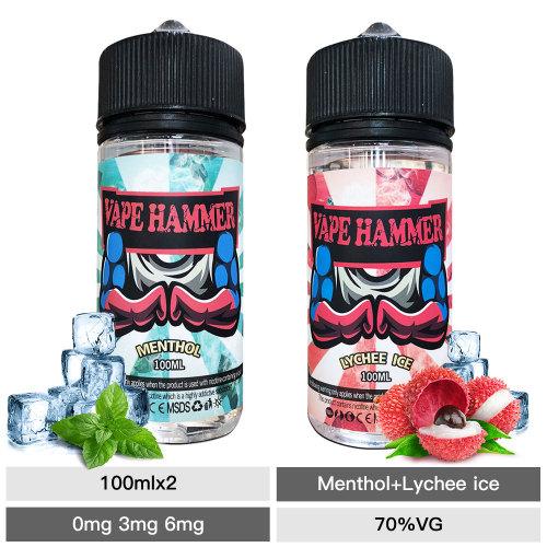 Cheap Vape Juice Pack Lychee Ice And Menthol E Liquid Bundle