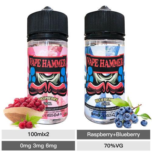 Cheap 2 Pick 100ml E Liquid Bundle Raspberry & Blueberry Vape Juice