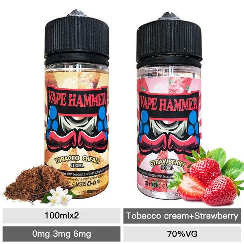 Smoking Strawberry Vape Juice Tobacco E Juice 100ml X2