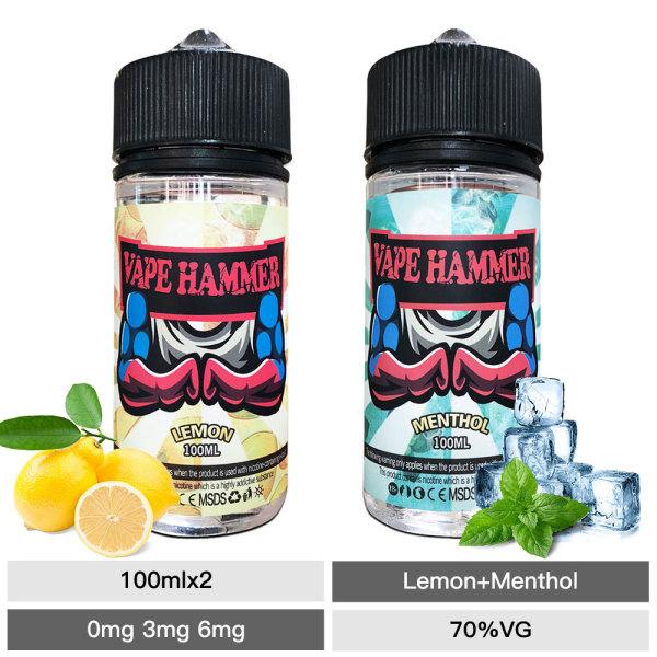 Menthol E Liquid 100ml & Lemon Vape Juice Gift Pack