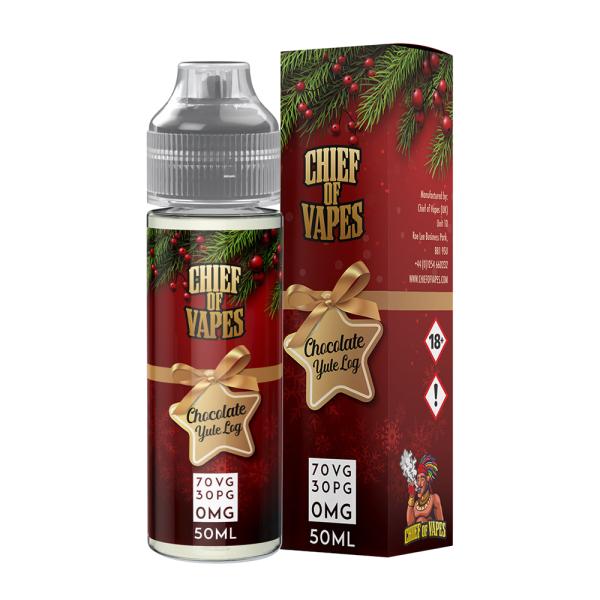 Best Vape Juice 50ml 0mg Chief Of Vapes Chocolate Yule Log Flavor
