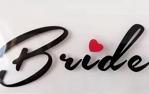 Bride vinyl heat transfer