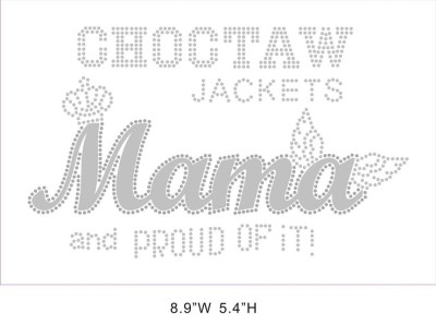 CHOCTAW Mama hot fix rhinestone with vinyl