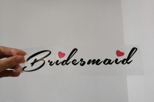 Bridesmaid vinyl heat transfer