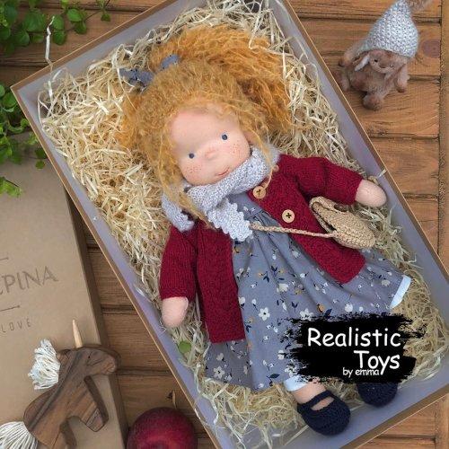 Emma Realistic Toys - Waldorf Doll Madison