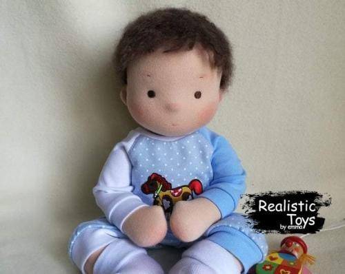Emma Realistic Toys - Waldorf Doll Barney