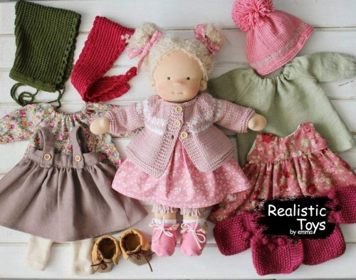 Unique Waldorf Doll Audrey , Presents For Girls , Handmade From Natural Fibres