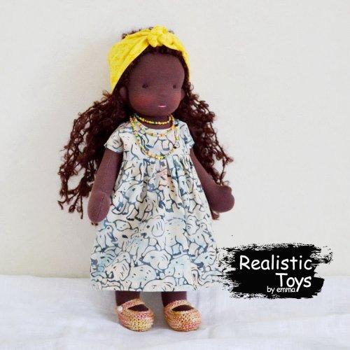 Waldorf Doll Hailey, Black Dolls For Kids